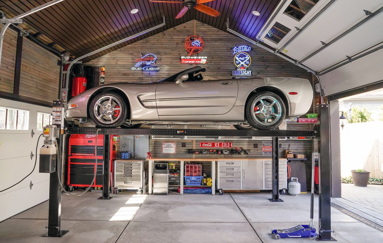 Garage Car Lift For Storage Behind Closed Doors Buffalo Garages The Buffalo News
