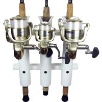 3 Rod Compact Fishing Rod Holder Rack White | Boat Outfitters