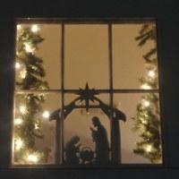 Nativity Scene Window/Wall Decoration