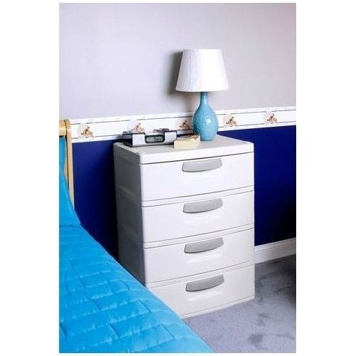 4 Drawer Cabinet With Hidden Rollers Heavy Duty Plastic