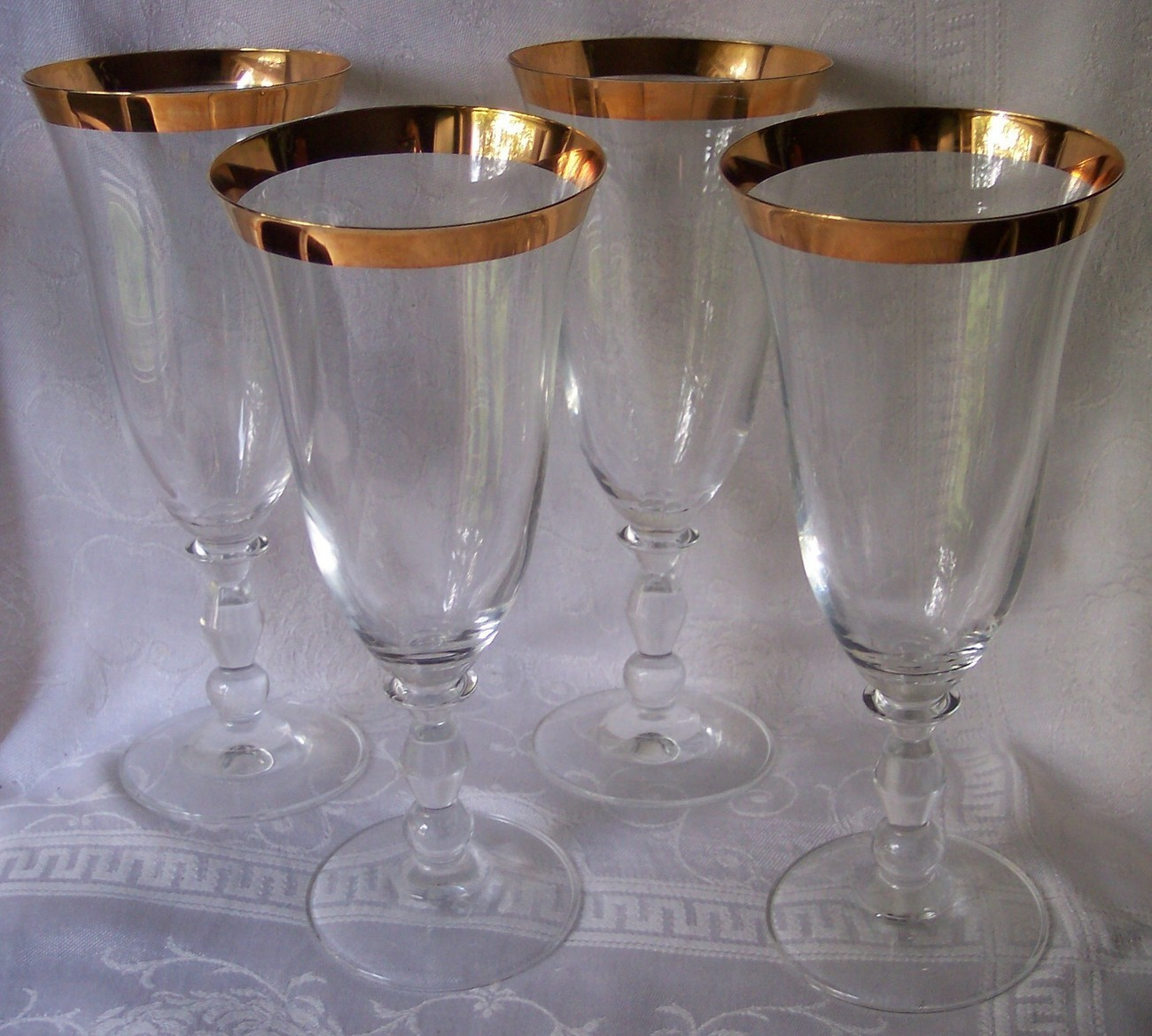 Crystal Stemware Wine Glasses Mikasa Crystal Wine Glasses Estate Pattern Stemware