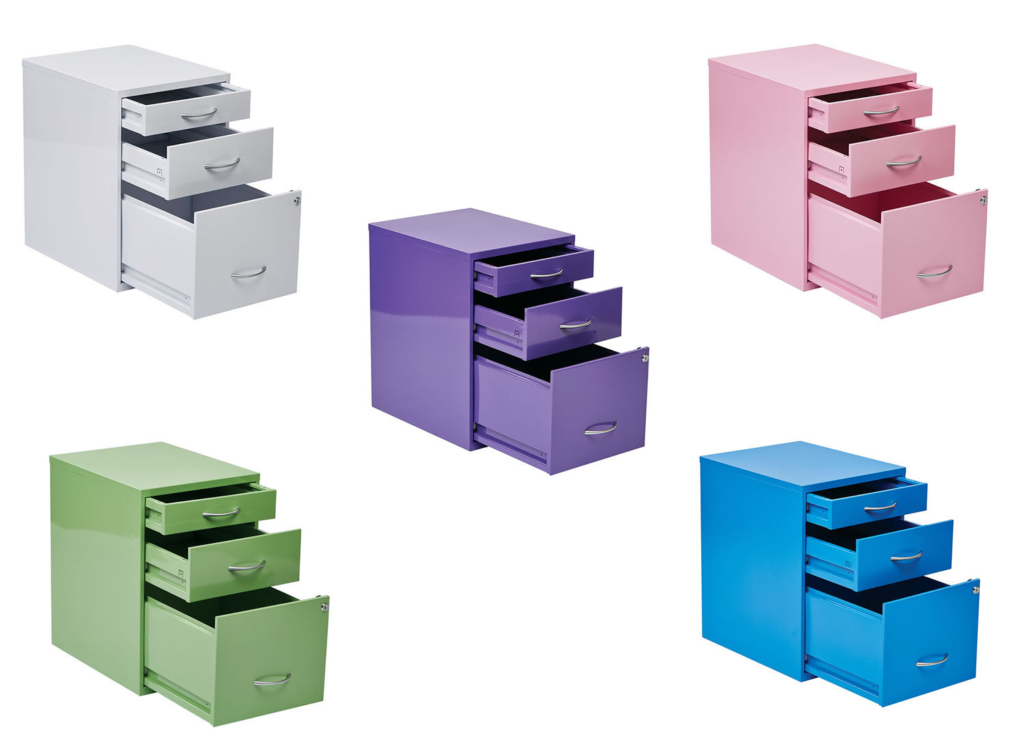 Colorful File Cabinets 3 Drawer Letter Legal Colorful Metal Office File Storage