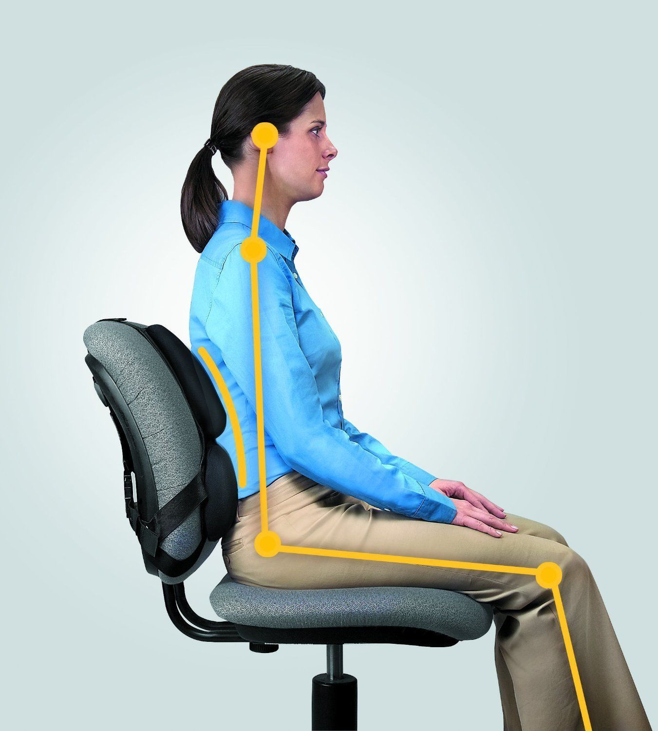 Best Desk Chair For Back Support Strap On Chair Back Support Desk Ergonomic Lumbar Office