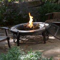 Outdoor Fire Pit Table Backyard Deck Garden Patio ...