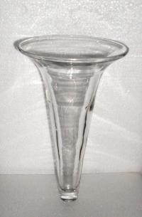 Handblown Wall Vase or Sconce Replacement Glass Fluted ...