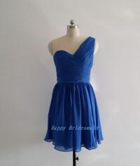 Cobalt Blue Bridesmaid Dress, One Shoulder Bridesmaid ...