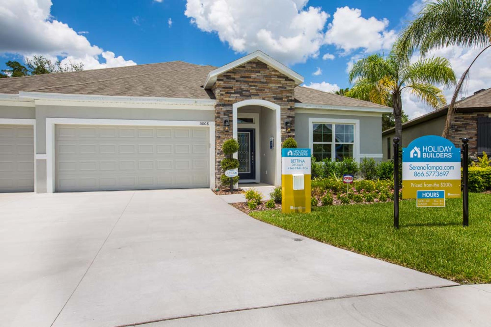 Garage Builders Tampa Sereno Wimauma New Homes Holiday Builders