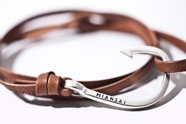 The Gallery For Gt Fish Hook Leather Bracelet