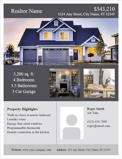 Attractive real estate flyers another tool to help sell homes - The
