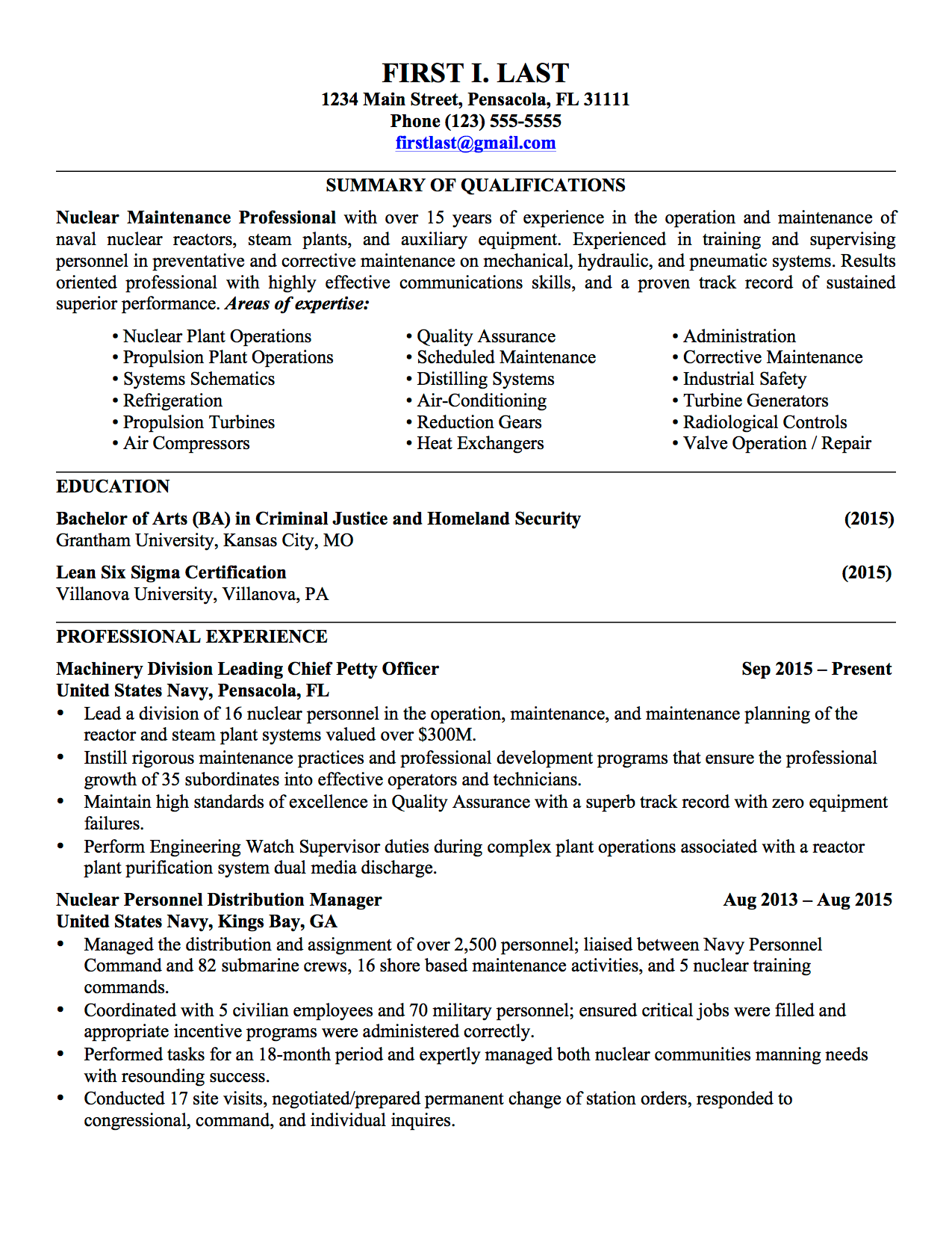 military resume examples infantry