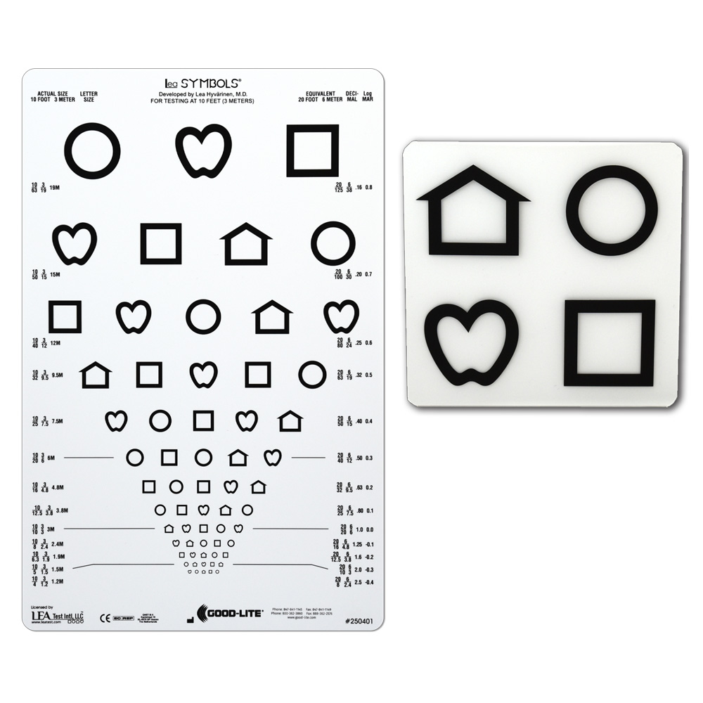 Distance Acuity Charts - LEA Symbols 13-Line Translucent Distance - eye chart template