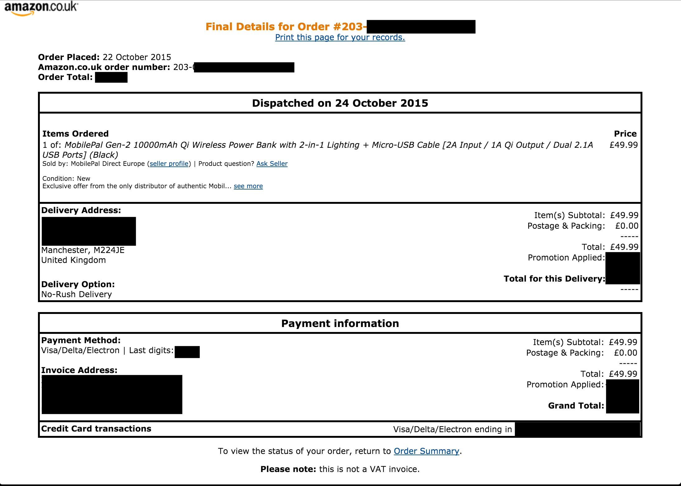 amazon invoice sample pdf – notators, Invoice examples
