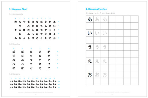 Learn Japanese Alphabet with the FREE eBook - JapanesePod101 - hiragana alphabet chart