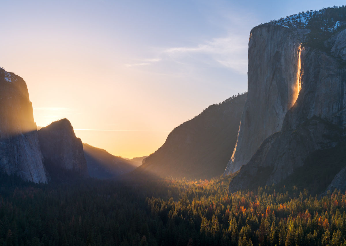 Fall Mountain Scenery Wallpaper Yosemite S Firefall Can Be Viewed Through February 24 2019