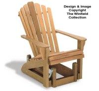 All Yard & Garden Projects - Adirondack Glider Chair Wood ...