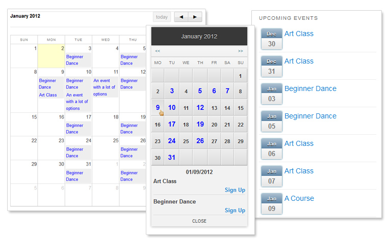 Features - Events Planner for Wordpress