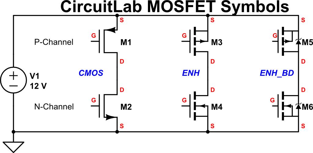 circuitlab blog new mosfet schematic symbols