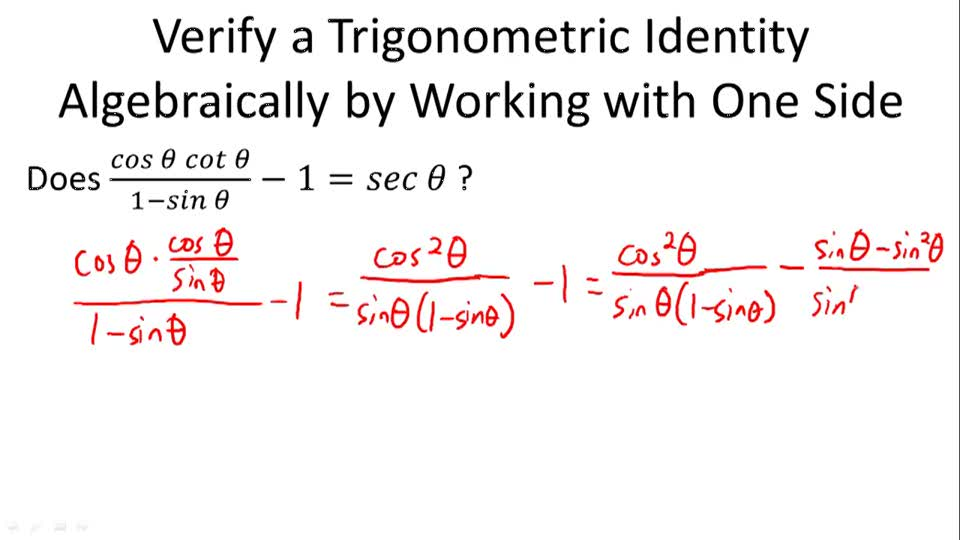 Proofs of Trigonometric Identities CK-12 Foundation