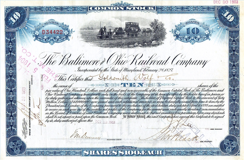 Selling Stock Certificates Our Pastimes