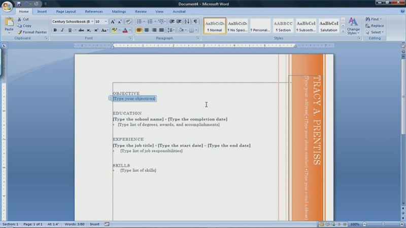 Creating Resume Using Ms Word How To Create A In Microsoft With 3 Sample