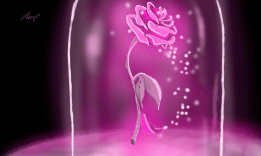 Falling Rose Petals Live Wallpaper Enchanted Rose