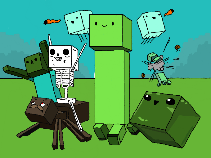 Anime Friends Wallpaper Cute Minecraft