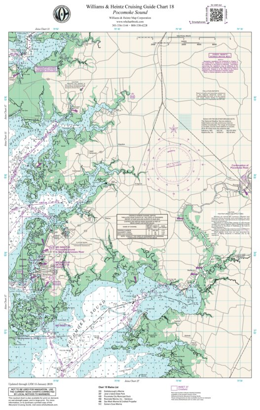 Chesapeake Bay Pocomoke Sound - Williams  Heintz Map Corporation