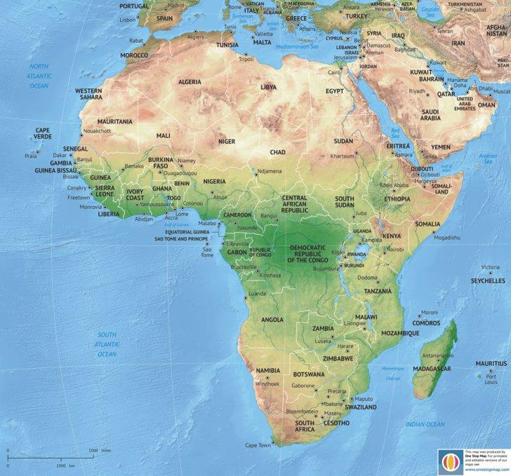 Africa Continent - van der Maarel - Avenza Maps
