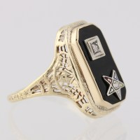 Vintage Order of the Eastern Star Ring - 14k Yellow ...