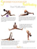 Beginner yoga poses for flexible hamstrings poster