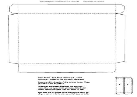 Large Chocolate Bar Box Template - CUP310428_1509 Craftsuprint
