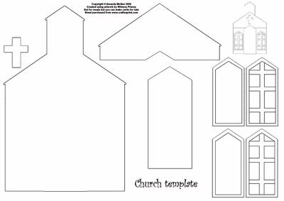 Church Template Cup27576 56 Craftsuprint