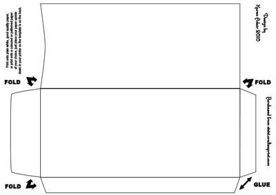 Double Diamond Fold Envelope Template Cup145552 168