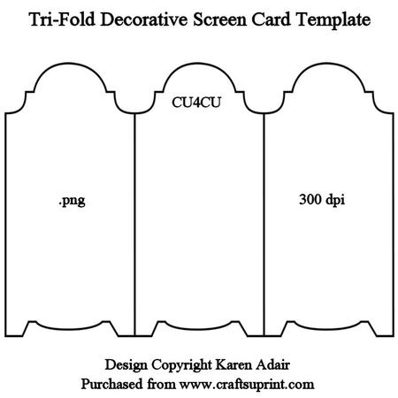 Folded Card Template Gallery - template design free download - tri fold card