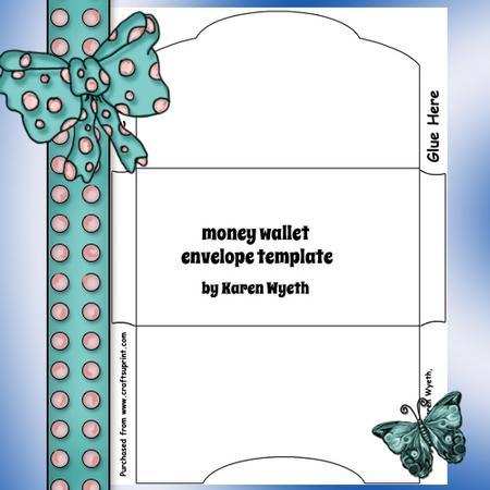 Money Wallet Envelope Template - CUP465513_1056 Craftsuprint - money gift envelope template