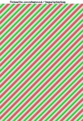 3d Pyramid Wallpaper Candy Cane Christmas Stripes A4 Backing Paper Cup272974