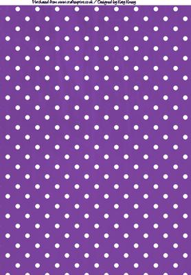 Cute Shopkins Wallpaper Hd Polka Dots A4 Backing Paper In Purple And White