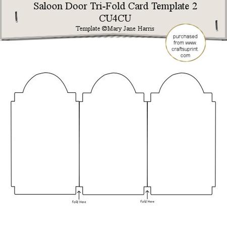 Saloon Door Tri-fold Card Template 2 - Cu4cu - CUP291566_99 - tri fold card