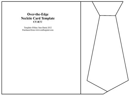 Over-the-edge Necktie Card Template - Cu4cu - CUP322943_99 - template for cards