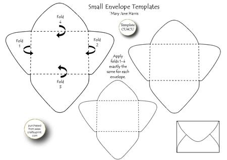 3 Small Envelope Templates - Cu4cu - CUP327120_99 Craftsuprint - Small Envelope Template
