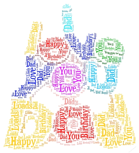 I Love You Dad Happy Birthday Word Art - CUP724498_2229 Craftsuprint