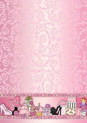 Pretty Little Girl Wallpaper Pink Girly Accessories Backing Paper Cup167914 422