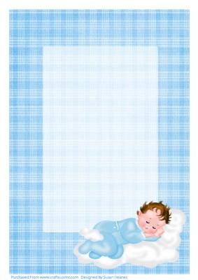 Sweet Cute Baby Boy Wallpaper A4 Congratulations On The Birth Of Your Baby Boy Insert