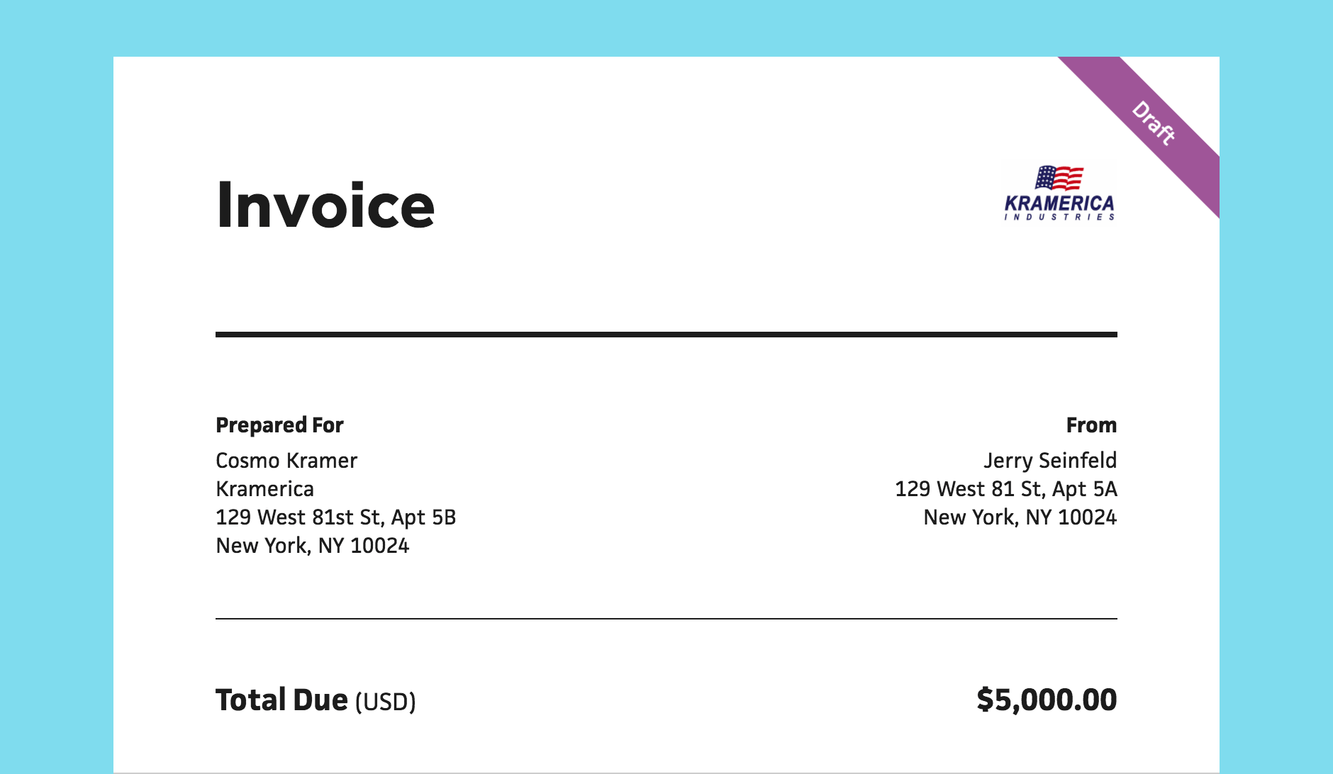 invoice draft