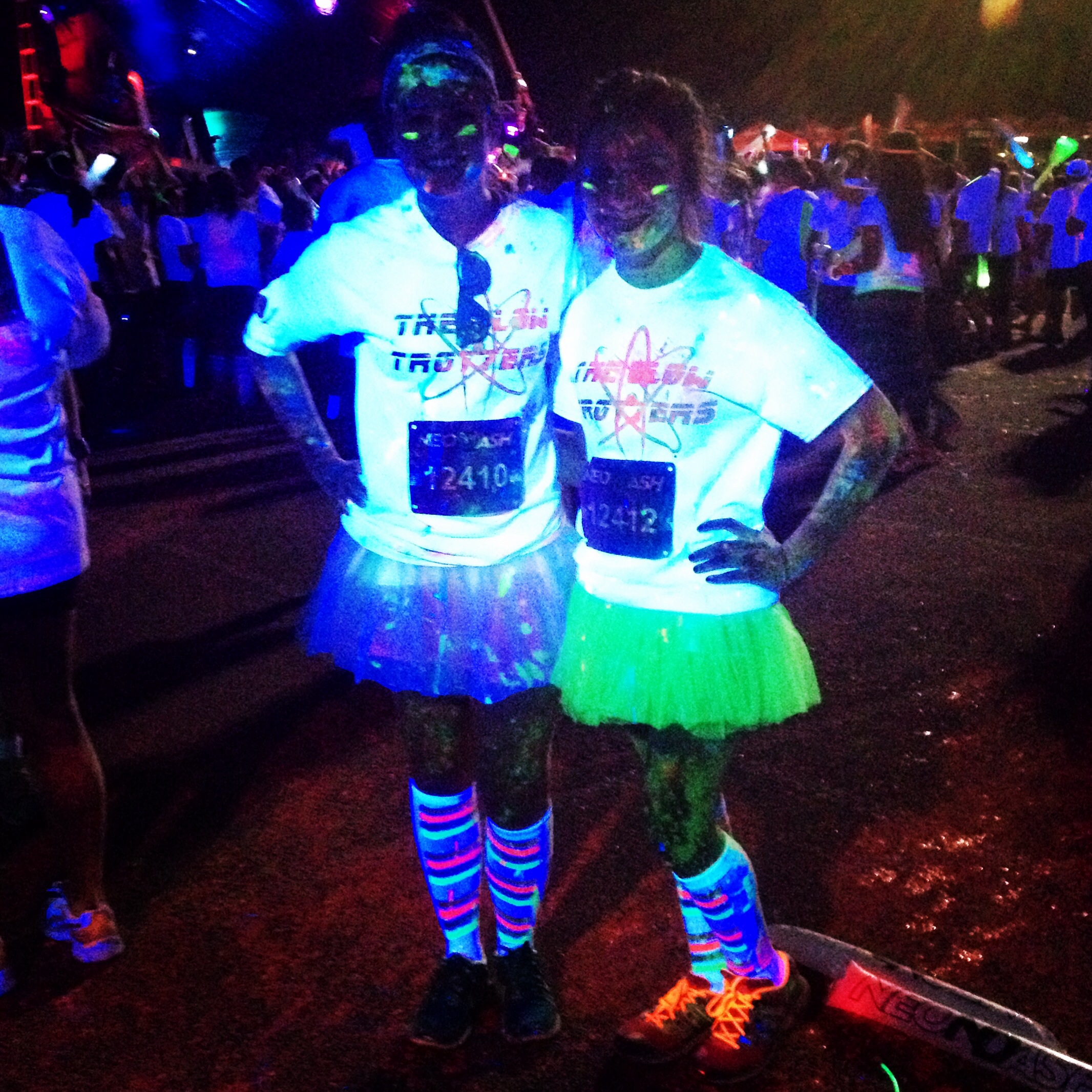 Design t shirt neon colors the glow trotters take on the neon dash in san