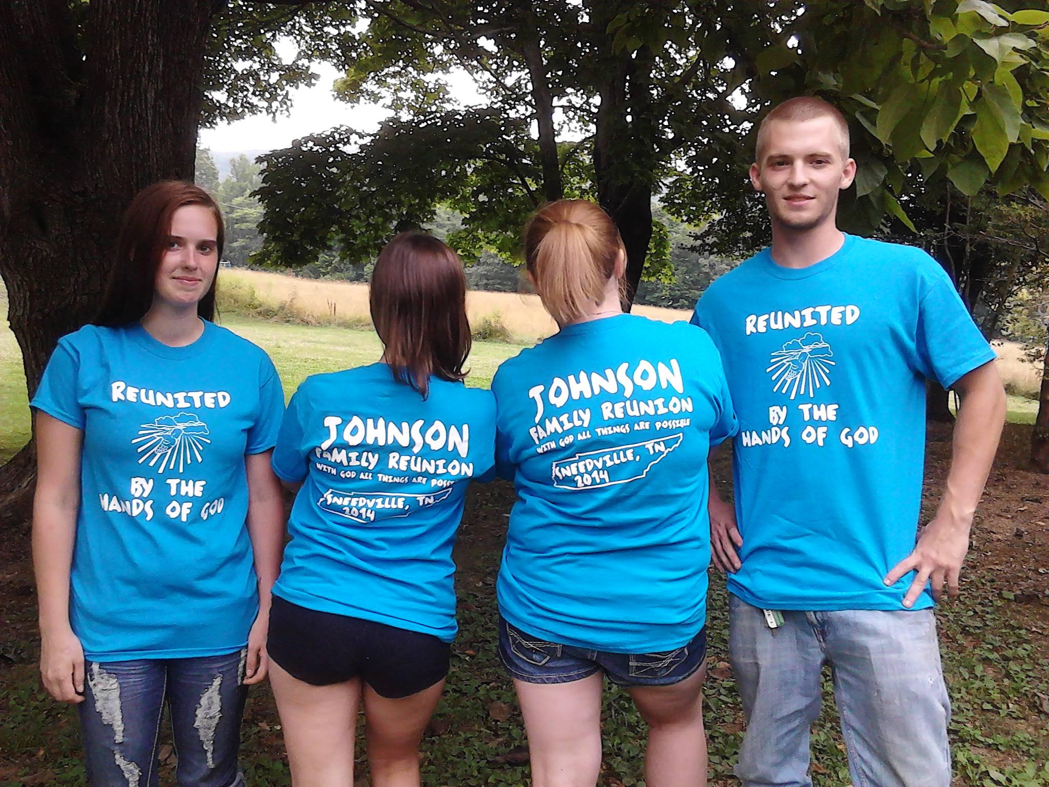 Johnson family reunion t shirt photo