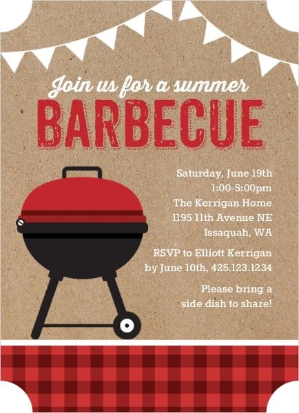 Branding Iron Rustic Black and Brown BBQ Invite BBQ Invitations