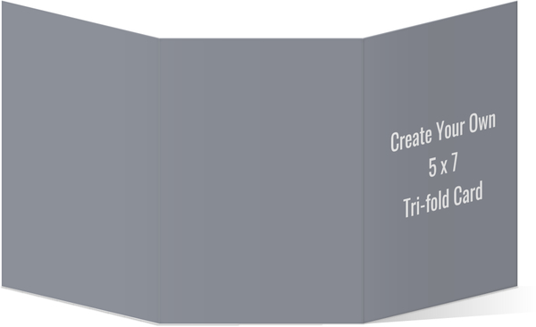Create Your Own 5x7 Tri-fold Card Create Your Own Templates - Tri Fold Card