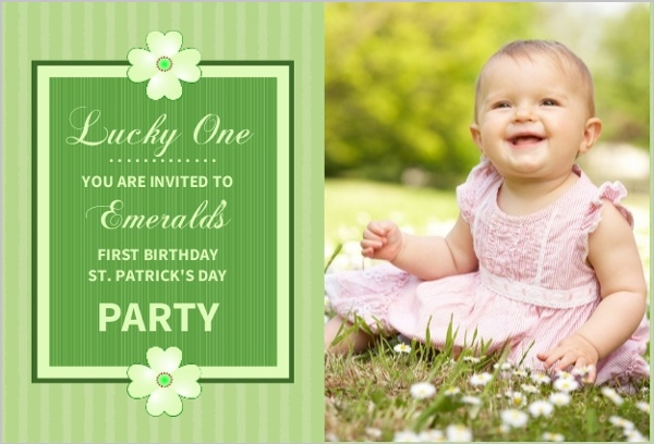 Lucky One St Patrick\u0027s Day First Birthday Invitation First