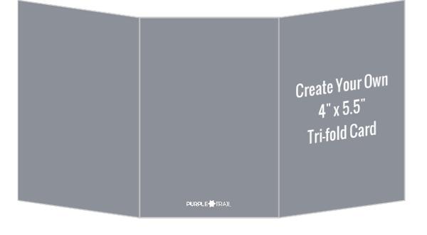 Create Your Own 4x55 Tri-fold Card Create Your Own Cards - tri fold card